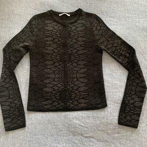 Zara XS snake print sweater